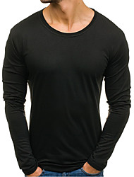 voordelige -Heren Actief / Standaard T-shirt Effen