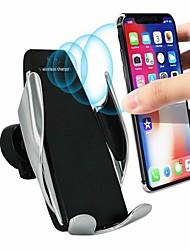 Недорогие -Ци беспроводное зарядное устройство кронштейн смарт-автоматическая индукционная подставка автомобильный вентиляционный держатель телефона для iphone XS XR X Макс Samsung S10 S9 S8 плюс