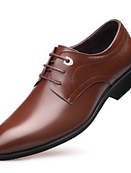 ieftine -Bărbați Pantofi de confort Piele Toamna iarna Oxfords Maro