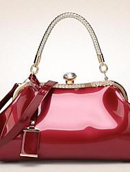 abordables -Mujer Bolsos PU Tote Brillante Color sólido Rosa / Fucsia / Wine