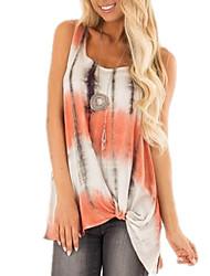 Недорогие -женская рубашка азиатского размера - геометрическая шея