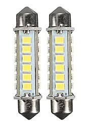 Недорогие -2 шт. 44 мм 2.6 Вт 2835 24см белый гирлянда светодиодный интерьер купола свет номерного знака лампы