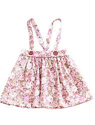 Χαμηλού Κόστους -Μωρό Κοριτσίστικα Βασικό Φλοράλ Αμάνικο Βαμβάκι Φόρεμα Ανθισμένο Ροζ