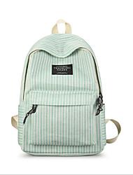 저렴한 -여성용 가방 우레탄 책가방 지퍼 용 학교 봄 푸른 / 클로버 / 그레이