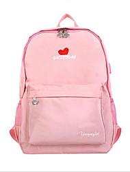 povoljno -Žene Torbe Najlon Školska torba Patent-zatvarač Crn / Blushing Pink