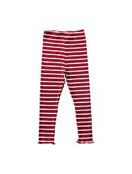billige -Barn Jente Aktiv Daglig / Skole Stripet Drapering Bomull / Akryl / Polyester Leggings Svart