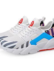 Χαμηλού Κόστους -Ανδρικά Παπούτσια άνεσης Συνθετικά Άνοιξη & Χειμώνας Καθημερινό Αθλητικά Παπούτσια Περπάτημα Μαύρο / Άσπρο / Άσπρο / Μπλε