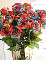 abordables -Fleurs artificielles 5 Une succursale Classique Européen style pastoral Roses Fleur de Table