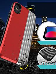 Недорогие -Кейс для Назначение Apple iPhone XS / iPhone XR / iPhone XS Max Бумажник для карт / Защита от удара / со стендом Кейс на заднюю панель Геометрический рисунок / броня Твердый ПК