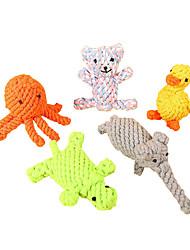 Недорогие -Жевательные игрушки / Игрушка для очистки зубов Животные текстильный / Хлопковая ткань Назначение Собаки / Коты