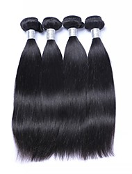 Недорогие -4 Связки Бразильские волосы Прямой 100% Remy Hair Weave Bundles Подарки Косплей Костюмы Человека ткет Волосы 8-28 дюймовый Естественный цвет Ткет человеческих волос / Без запаха