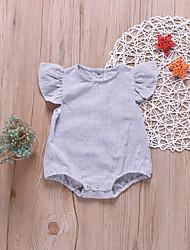 billige -Baby Gutt Aktiv / Grunnleggende Stripet Elegant Kort Erme Bomull Body Lyseblå