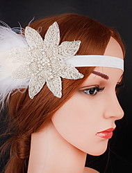 cheap -The Great Gatsby 1920s The Great Gatsby Costume Women's Flapper Headband Head Jewelry White Vintage Cosplay Party Prom Festival