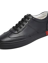 abordables -Homme Chaussures de confort Cuir Automne Basket Blanc / Noir