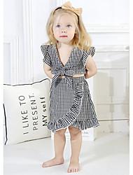 Χαμηλού Κόστους -Μωρό Κοριτσίστικα Καθημερινό Καθημερινά Φλοράλ Κοντομάνικο Κοντό Πολυεστέρας Σετ Ρούχων Ανθισμένο Ροζ