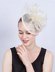 ราคาถูก -Flax / สุทธิ / ขนนกเทียม fascinators / ดอกไม้ / เครื่องสวมศรีษะ กับ ขนนก 1 ชิ้น งานแต่งงาน / งานปาร์ตี้ / งานราตรี หูฟัง