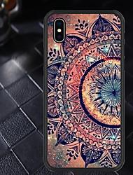 baratos -Capinha Para Apple iPhone X / iPhone XR Estampada Capa traseira Mandala Macia TPU para iPhone XR / iPhone X