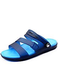 저렴한 -남성용 구두 PVC 여름 캐쥬얼 샌들 비치 용 그레이 / 브라운 / 블루 / 네모난 발가락