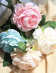 billiga -Konstgjorda blommor 1 Gren Enkel Modernt Modernt Brudbuketter Roser Bordsblomma