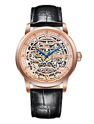 cheap -Begeel Men's Skeleton Watch Swiss Automatic self-winding Black / Brown 50 m Water Resistant / Waterproof Hollow Engraving Analog Fashion - Rose Gold Black / Rose Gold