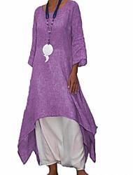 Недорогие -Жен. Свободный силуэт С летящей юбкой Рубашка Платье Средней длины