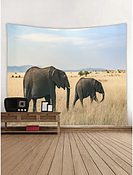 cheap -Elephant Wall Decor 100% Polyester Contemporary Wall Art, Wall Tapestries Decoration