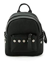 hesapli -Kadın's Çantalar PU sırt çantası Perçin için Günlük / Okul Bahar Siyah / YAKUT / Gri