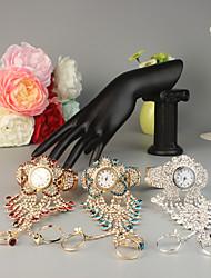 Недорогие -FEIS Жен. Часы-браслет Кварцевый Серебристый металл / Золотистый Творчество Аналого-цифровые Мода - Серебряный Красный Небесно-голубой