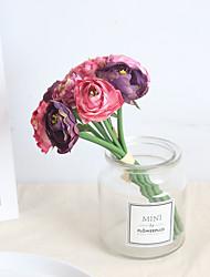 abordables -Flores Artificiales 9 Rama Clásico Europeo Ramos de Flores para Boda Loto Flores eternas Flor de Mesa
