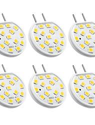 abordables -6pcs 3 W 270 lm G8 Luces LED de Doble Pin 15 Cuentas LED SMD 2835 Decorativa Blanco Cálido 110-130 V