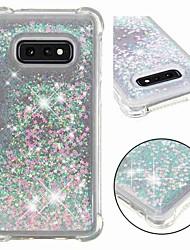 Недорогие -Кейс для Назначение SSamsung Galaxy S9 / S9 Plus / S8 Plus Защита от удара / Движущаяся жидкость / Прозрачный Кейс на заднюю панель Сияние и блеск Мягкий ТПУ