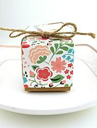 Недорогие -Кубик Чистая бумага Фавор держатель с Узоры / принт Подарочные коробки - 100шт