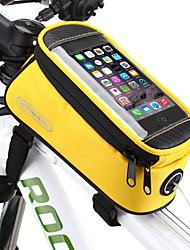 Недорогие -ROSWHEEL Сотовый телефон сумка Бардачок на раму 5.5 дюймовый Сенсорный экран Водонепроницаемость Велоспорт для Samsung Galaxy S6 LG G3 Samsung Galaxy S4 Синия / Черный Красный Синий / iPhone X