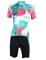 お買い得  -ILPALADINO 女性用 半袖 ショーツ付きサイクリングジャージー - ミネラルグリーン バイク スポーツ ファッション 衣類