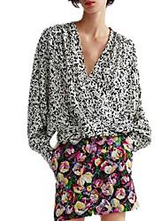 billige -Dame - Leopard Trykt mønster Bluse
