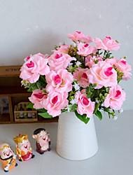 Χαμηλού Κόστους -Ψεύτικα λουλούδια 6 Κλαδί Κλασσικό Αξεσουάρ Στολής Ποιμενικό Στυλ Τριαντάφυλλα Αιώνια Λουλούδια Λουλούδι για Τραπέζι