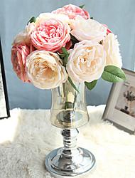 abordables -Fleurs artificielles 1 Une succursale Classique Moderne contemporain Fleurs de mariage Roses Fleurs éternelles Fleur de Table