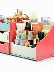 Недорогие -Место хранения организация Косметологический макияж деревянный Прямоугольная форма Тройной слой