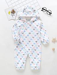 preiswerte -Baby Mädchen Grundlegend Druck Herz / Moderner Stil / Print Langarm Polyester Einzelteil Weiß