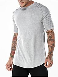 olcso -férfi eu / us méretű póló - kerek, kerek színű nyak