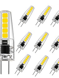 abordables -10pcs 3 W 250 lm G4 Luces LED de Doble Pin T 10 Cuentas LED SMD 2835 Fiesta Decorativa Decoración de la boda de Navidad Blanco Cálido Blanco Fresco 220-240 V