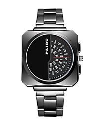 Недорогие -Муж. Спортивные часы Кварцевый Нержавеющая сталь Черный / Серебристый металл Новый дизайн Крупный циферблат Аналого-цифровые На каждый день На открытом воздухе - Черный Серебряный Черно-белый