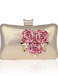 preiswerte -Damen Taschen PU / Aleación Abendtasche Perlen Verzierung / Blume Blumen / Pflanzen Schwarz / Rote / Fuchsia