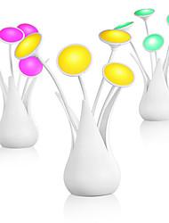 Недорогие -новинка usb led ваза ночник датчик света декоративная настольная лампа умный цветок освещения