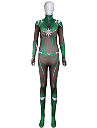 preiswerte -Zentai Anzüge The Avengers Erwachsene Cosplay Kostüme Halloween Grün Print Elastan Lycra® Damen Halloween Karneval Maskerade