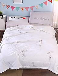 Недорогие -удобный - 1 одеяло Лето Хлопок Однотонный