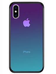 Недорогие -Кейс для Назначение Apple iPhone 11 / iPhone 11 Pro / iPhone 11 Pro Max Защита от удара Кейс на заднюю панель Градиент цвета Твердый Закаленное стекло