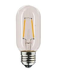 abordables -1pc 1 W 100-160 lm E26 / E27 Ampoules à Filament LED T45 2 Perles LED Blanc Chaud 220-240 V