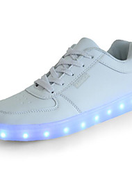 abordables -Chico Zapatos PU Primavera Confort Zapatillas de deporte Con Cordón para Niños / Adolescente Blanco / Negro