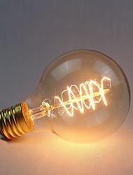 Недорогие -1шт 40 W E26 / E27 G80 Желтый 2300 k Ретро / Диммируемая / Декоративная Лампа накаливания Vintage Эдисон лампочка 220-240 V